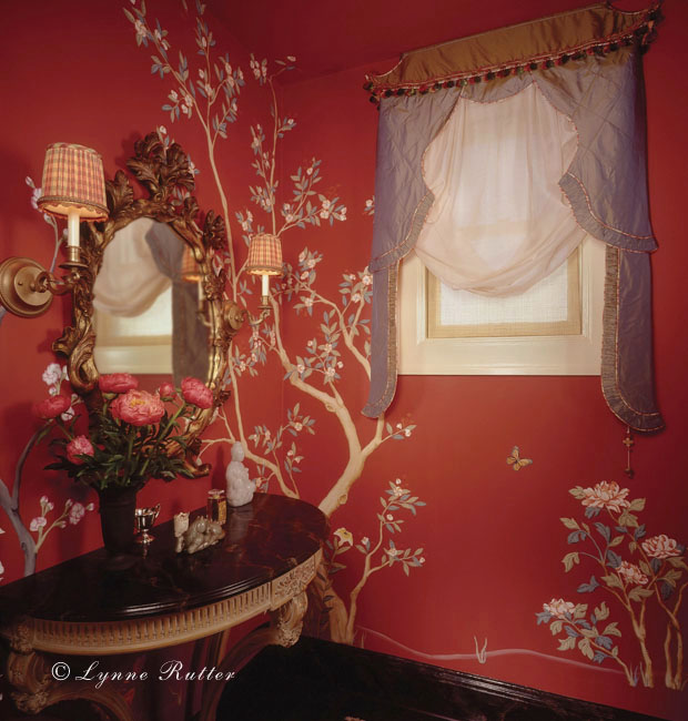 Chinoiserie Murals—Chinoiserie in Red