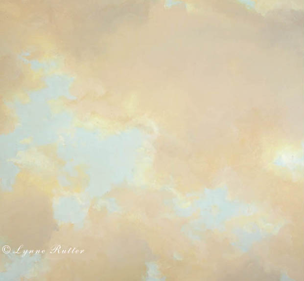 Lynne rutter studio ceilings cloud ceiling murals for Cloud mural ceiling