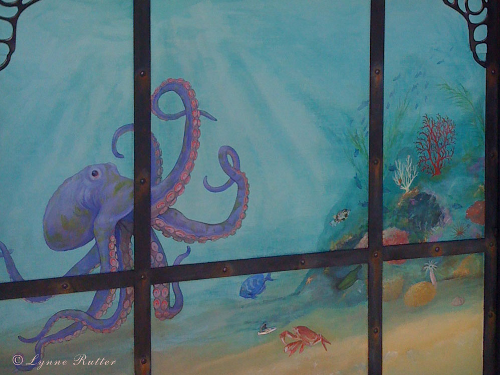 The ornamentalist the steampunk aquarium mural for Aquarium mural