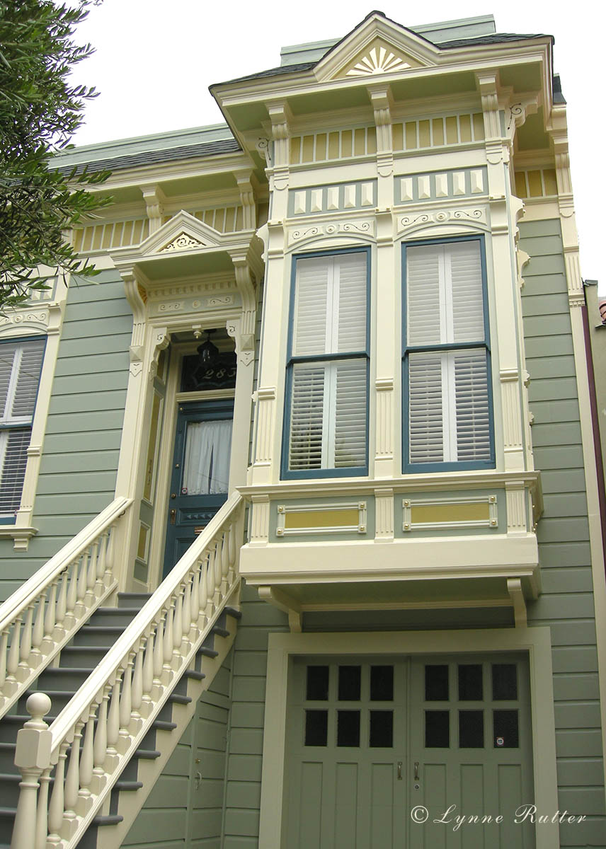The ornamentalist exterior color noe valley victorian - What color is sage green ...